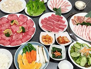 コース料理の一例写真